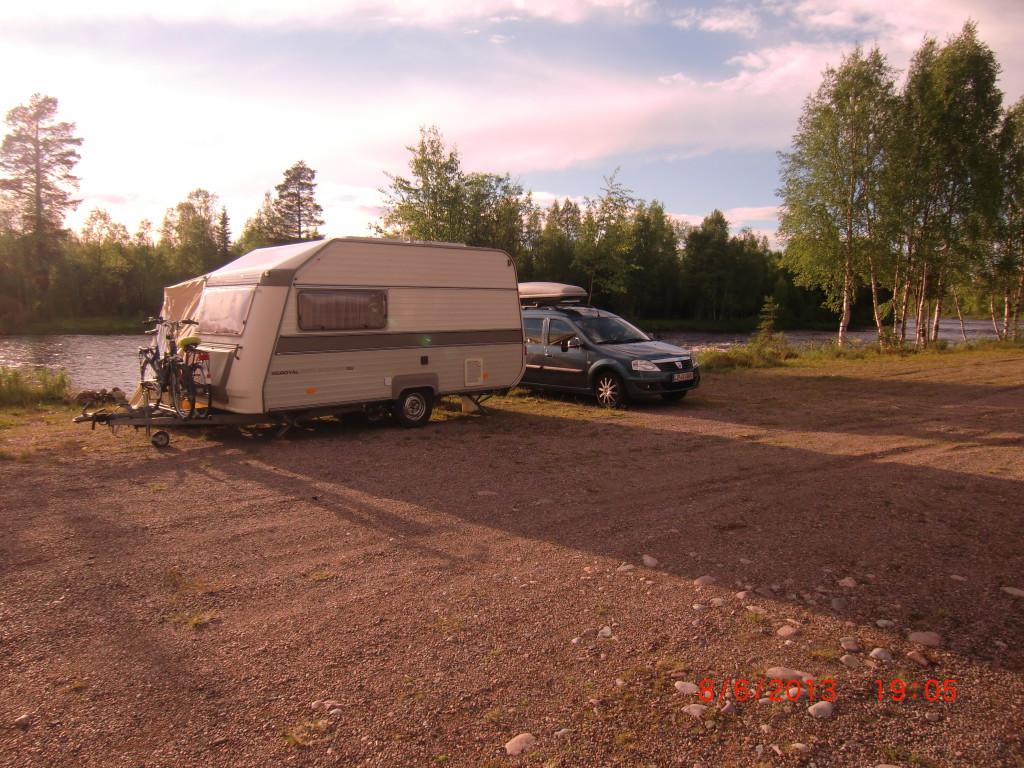 Ein stiller Stellplatz. Im gesamten Gebiet um Sälen, darfst Du auf solchen Plätzen frei Campen.